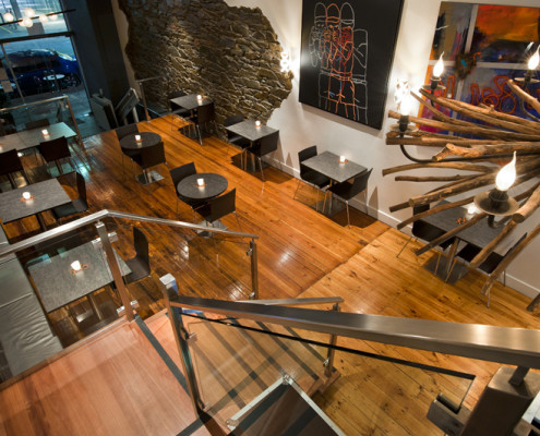 Gallery Bar Stair Design by Hodgkison Adelaide Architects