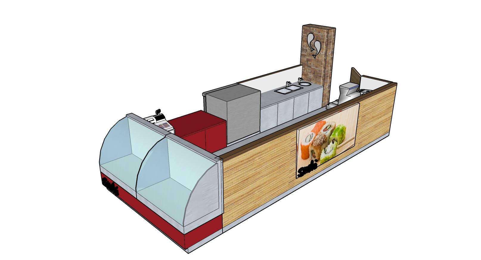 Sushi Kiosk Darwin 3D Mdel Design by Hodgkison Darwin Architects