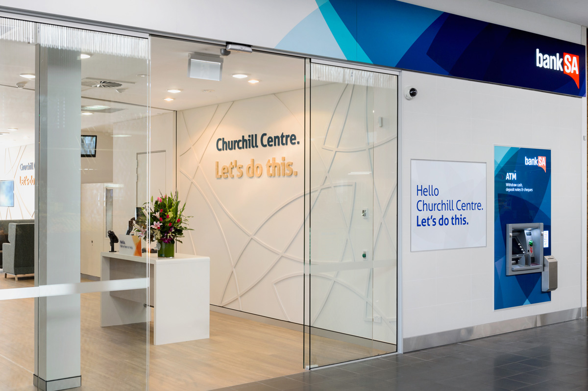 BankSA Churchill Entrance