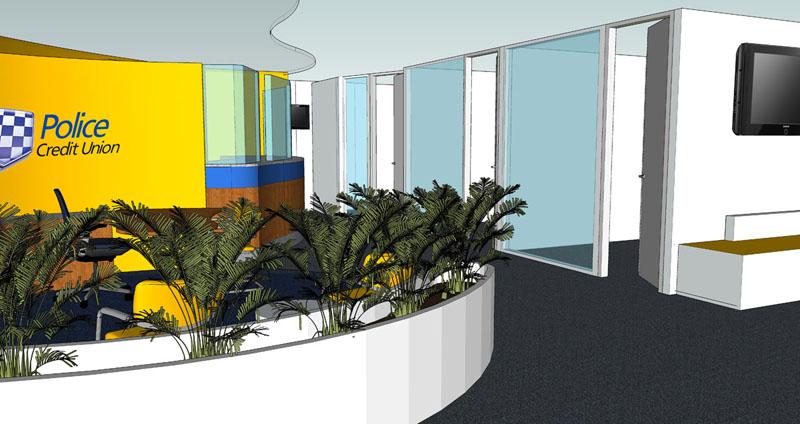Police Credit Union 3D Interior Design Casuarina Darwin