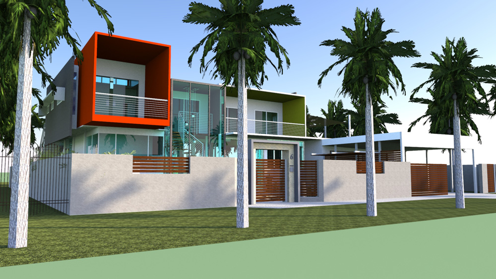 3D Model Private Residence Nightcliff Design by Hodgkison Architects
