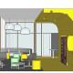 University of South Australia Student Lounge 3D Section