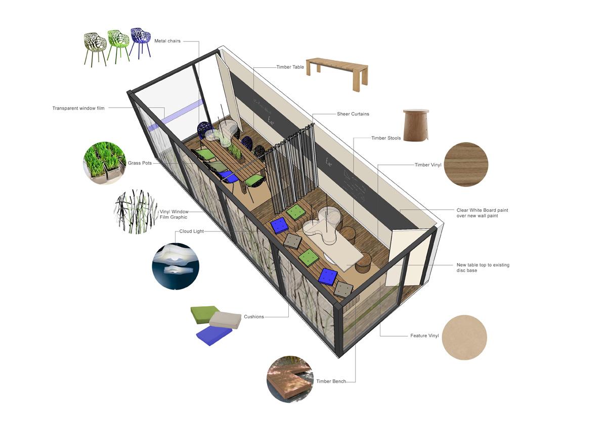 Westpac Call Centre Eco Breakout 3D Design by Hodgkison Adelaide Architects