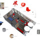 Westpac Call Centre Loft 3D Breakdown Design by Hodgkison Adelaide Architects