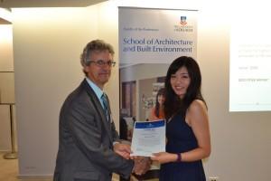 2015 Prize Winner Xiaochu Chen. Presented by Peter Goern (Director)