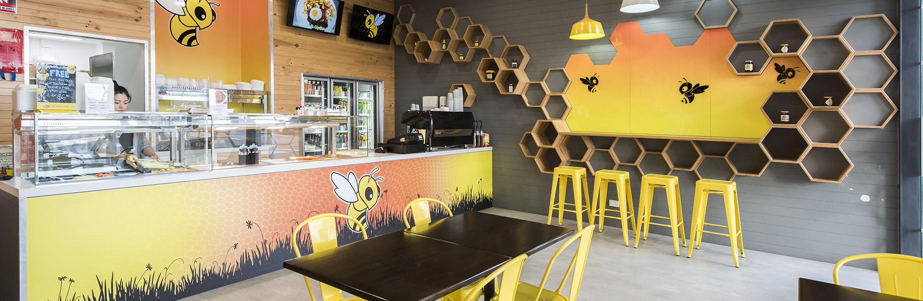 Busy Bee Cafe design by Hodgkison Architects NT