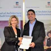 Hodgkison Architects Adelaide supports Student Excellence at Adelaide University. Kristy McMillan SA Architect