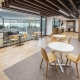 Corporate cafe seating area designed by Hodgkison Architects Adelaide