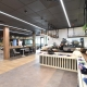 Corporate canteen designed by Hodgkison Architects Adelaide
