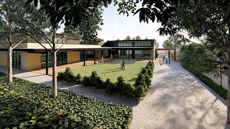 Hodgkison Kings Baptist Grammar School gardens 2