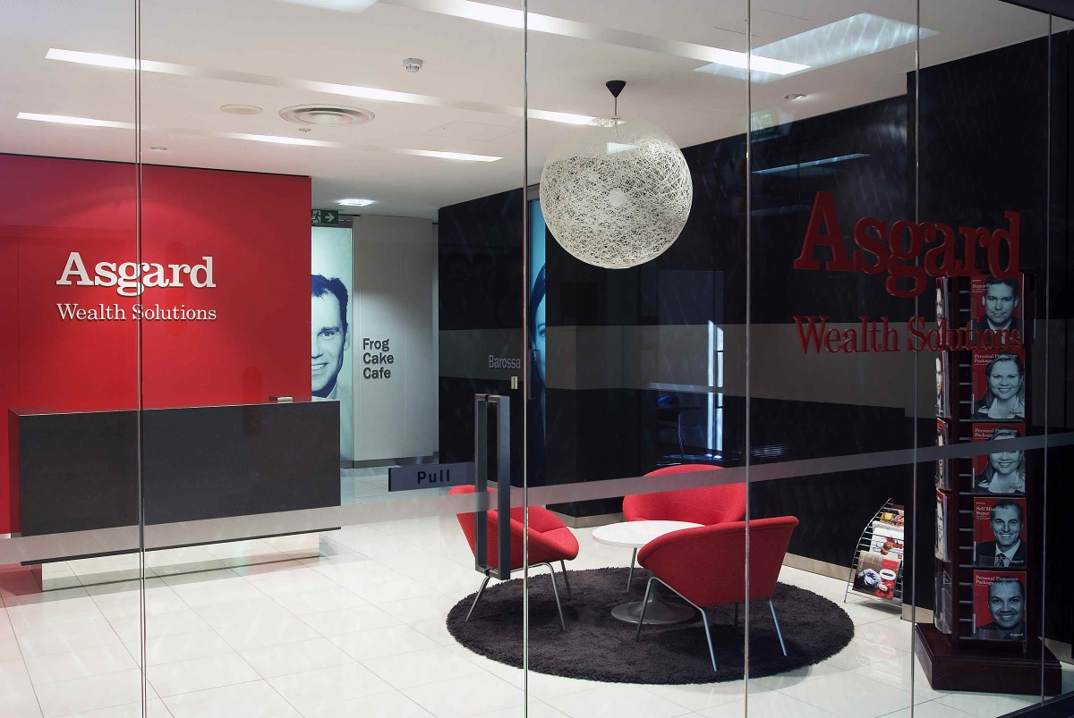 Asgard Wealth Solutions Waiting Area Design by Hodgkison Adelaide Architects