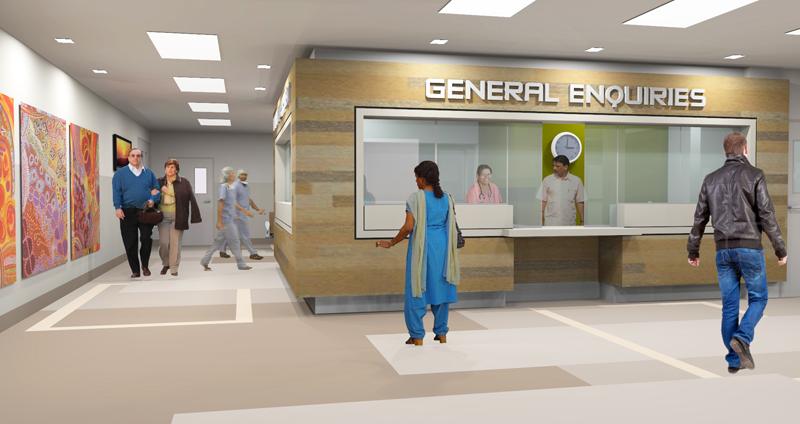 Tennant Creek Hospital Reception Area Hodgkison Darwin Architects