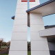 Playford Alive UC Architectural Feature Wall Design by Hodgkison Adelaide Architects