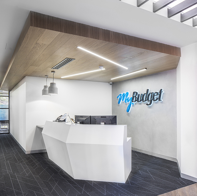 My Budget Reception designed by Hodgkison Architects