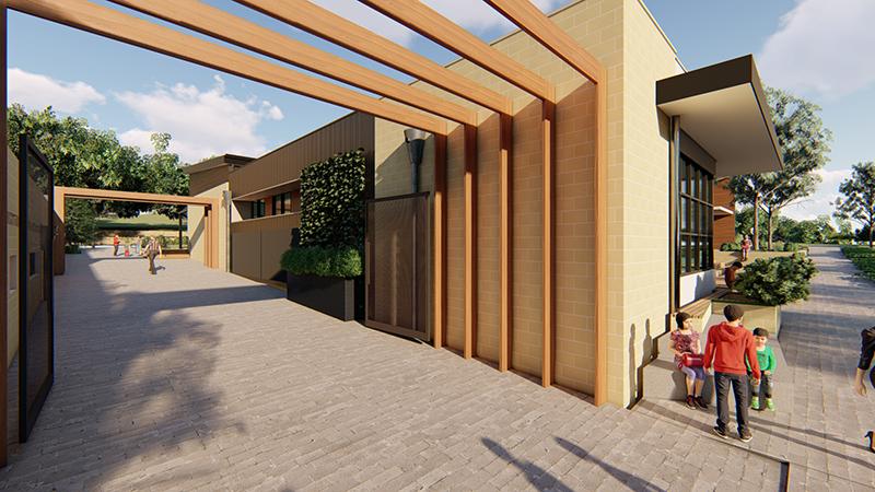 Hodgkison Kings Baptist Grammar School walkway